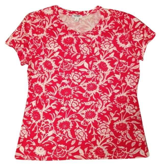 Old Navy T Shirt Red & White