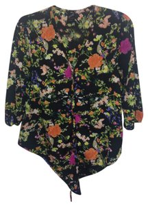 Other Button Down Shirt Black Floral Print