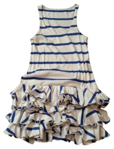 Ralph Lauren short dress blue and cream on Tradesy