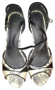 Other black and white snake skin Sandals