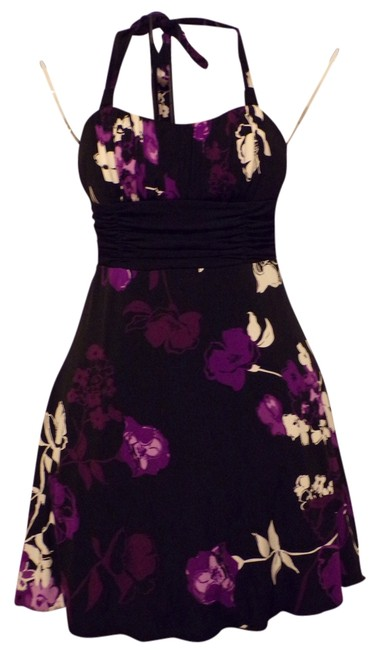 Preload https://item3.tradesy.com/images/speechless-black-purple-and-white-floral-halter-mid-length-short-casual-dress-size-4-s-3279652-0-0.jpg?width=400&height=650