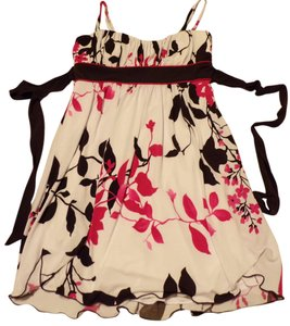 Speechless short dress White / Black & Fuchsia Floral Print Summer Trendy on Tradesy