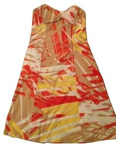 Diane von Furstenberg short dress Orange and red on Tradesy