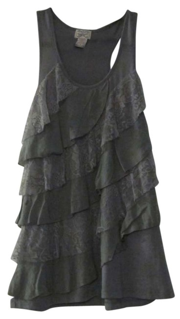Item - Olive Green Ruffled Tank Top/Cami Size 8 (M)