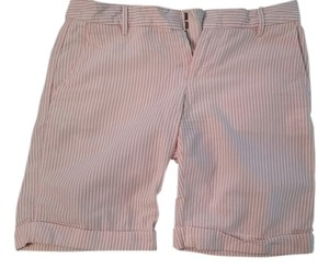 Gap Cuffed Shorts pink/white striped