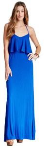 Royal Blue Maxi Dress by Go Couture