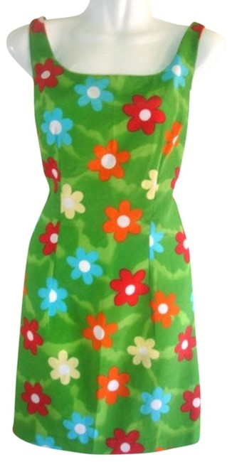 Joule short dress Floral Vintage Flower Power Mod Mini Green Mini on Tradesy