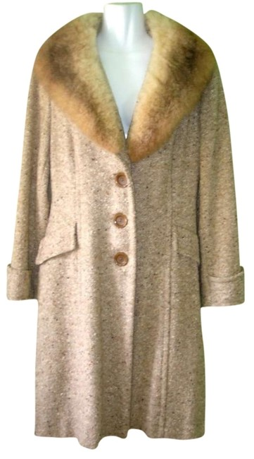 ILGWU Collar Vintage Union Made Tweed Fur Coat