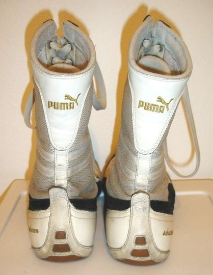 Puma Schattenboxen Tenis Lace-up Boots Schattenboxer Leather Boots Leather And Suede White Athletic