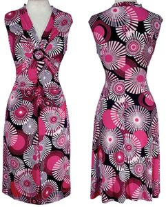 La Belle short dress Pink Kapeidoscope Stretch V-neck O-ring on Tradesy