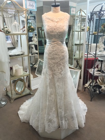 Sophia Tolli Ivory/Alabaster Lace and Tulle Lavinia Y11322 New Traditional Wedding Dress Size 12 (L)