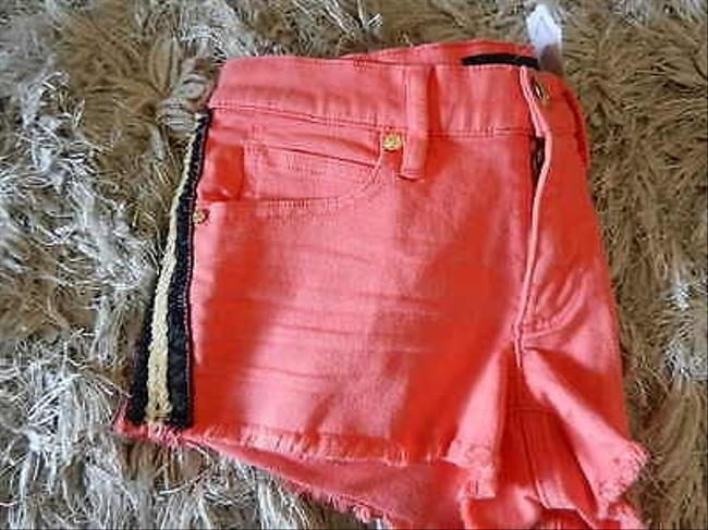 Juicy Couture With Sequin Trim 25 Cut Off Shorts Orange