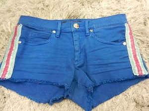 Juicy Couture 25 Cut Off Shorts Blue