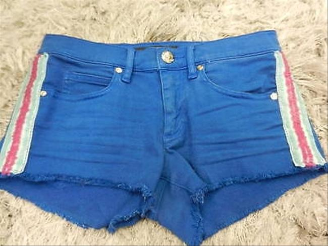 Juicy Couture 25 With Sequin Trim Cut Off Shorts Blue