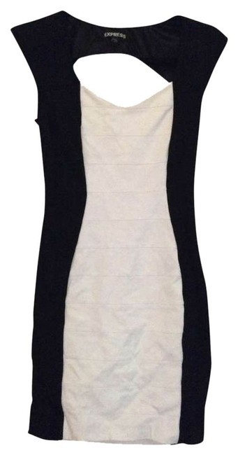 Preload https://item2.tradesy.com/images/express-black-and-white-color-color-blocking-cut-out-above-knee-night-out-dress-size-2-xs-328321-0-0.jpg?width=400&height=650