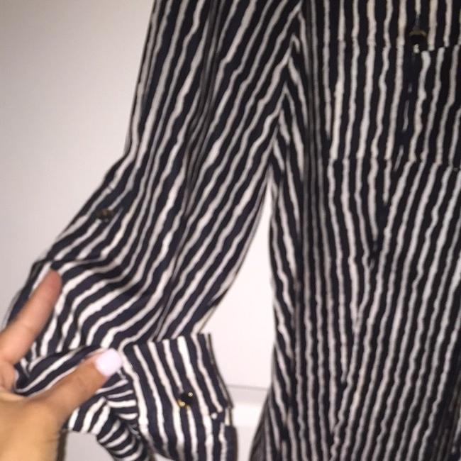 Michael Kors Button Down Shirt Black and White