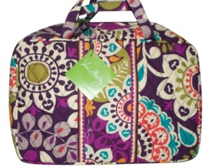 Vera Bradley Plum Crazy GRAND Cosmetic Vera Bradley NWT $42 pockets/Handles RETIRED
