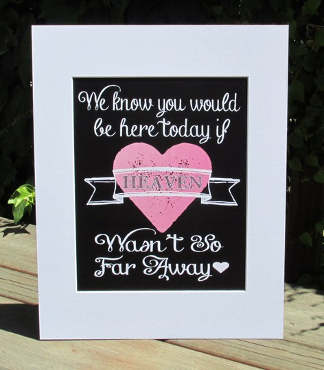 Set Of Two Rustic Chalkboard Look Signs-we Know You Would Be Here Today And Choose A Seat Not A Side--really Cute Signs