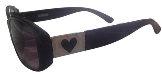 Foster Grant Sunglasses with Silver accent and black heart