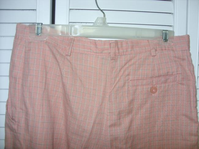 COUNTRY CLUB GOLF PETITES BY KORET CORAL MULTI COLOR PLAID Shorts
