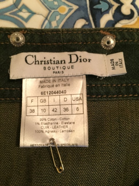 Dior Stylish Fashionable Leather Monogram Christian Boot Cut Jeans
