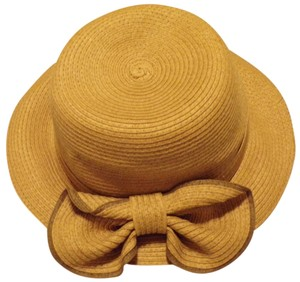 DSY Summer Straw Fedora with Bi-color Bow