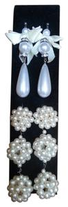 Two (2) Pearl Drop Costume Jewelry Earrings