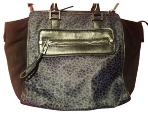 Sanctuary Clothing Calf Hair Leopard Print Suede Satchel in Black