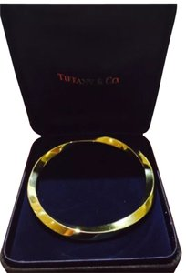 Tiffany & Co. Auth. Tiffany & Co 18k Yellow Gold Size 21 Twisted Bangle Bracelet
