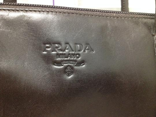 Prada Soft Chic 3 Compartments Lambskin Shoulder Bag