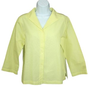Eileen Fisher Cotton Yellow Top