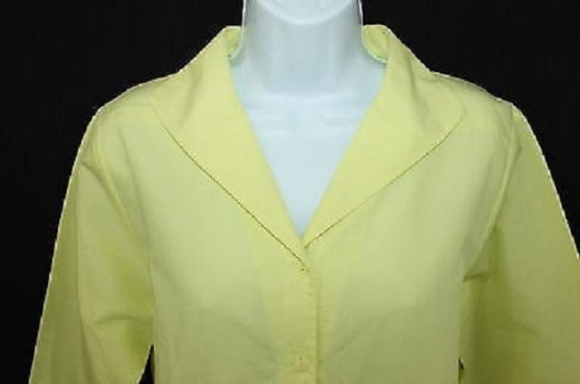 Eileen Fisher Cotton Yellow S Top Image 1