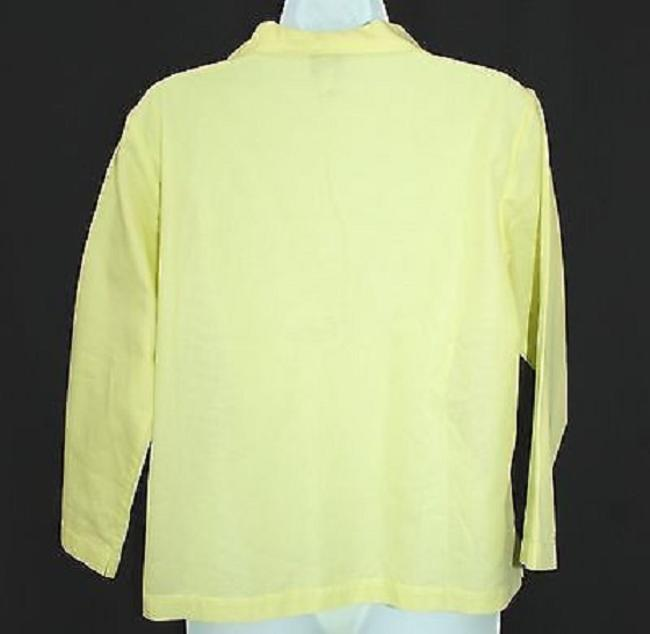 Eileen Fisher Cotton Yellow S Top Image 3
