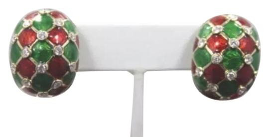 Preload https://img-static.tradesy.com/item/3285658/david-webb-red-green-white-vintage-18k-gold-and-platinum-2ctw-diamonds-clip-on-earrings-w-enamel-0-0-540-540.jpg
