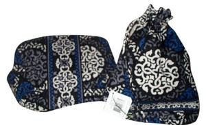 Vera Bradley Vera Bradley NEW Ditty Bag & Large Cosmetic in Canterberry Cobalt - Retired
