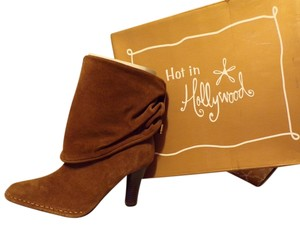 NEW! Hot in Hollywood Camel Suede Convertible Boots