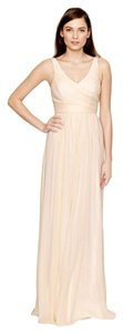 J.Crew Champagne Silk Traditional Bridesmaid/Mob Dress Size 6 (S)