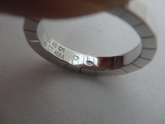 Cartier Auth Excellent Cartier Lanieres Ring 18K White Gold US5 Or EU 49