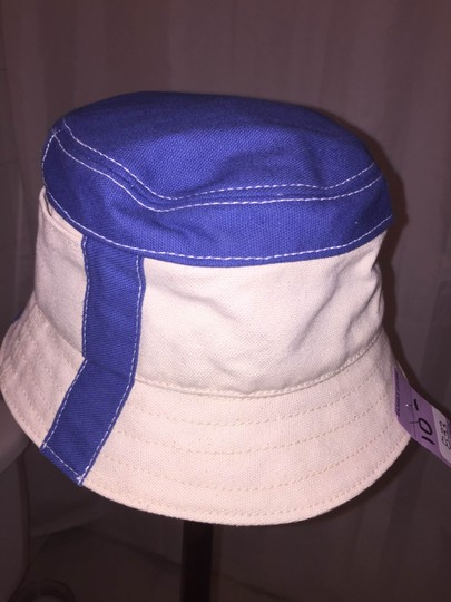 Stetson 833) NWT auth STETSON size SMALL natural canvas bucket hat w/blue RETAIL $179