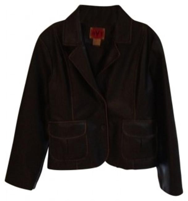 Preload https://item1.tradesy.com/images/rvt-dark-brown-cute-retro-leather-jacket-size-petite-12-l-32860-0-0.jpg?width=400&height=650