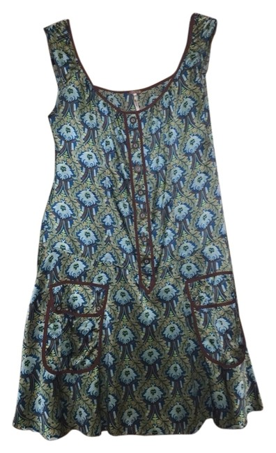 Preload https://item1.tradesy.com/images/urban-outfitters-dress-teal-brown-3286045-0-0.jpg?width=400&height=650