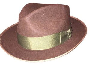 Stetson 831) NWT auth STETSON size SMALL 6 7/8 brown FUR FELT hat FEDORA retail $229
