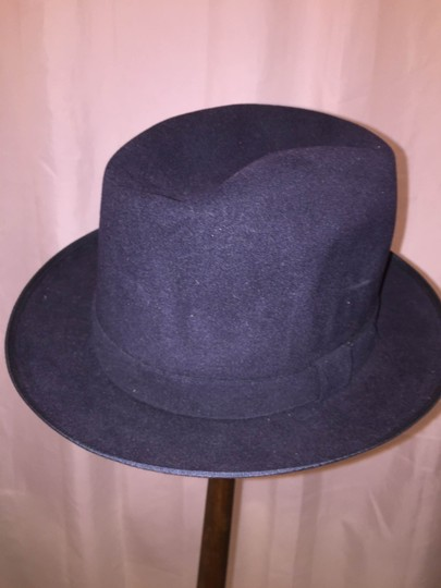 Stetson 830) NWT auth STETSON size MEDIUM (7) navy blue FUR FELT Charger HAT retail $229 Image 2