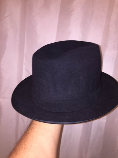Stetson 830) NWT auth STETSON size MEDIUM (7) navy blue FUR FELT Charger HAT retail $229 Image 3