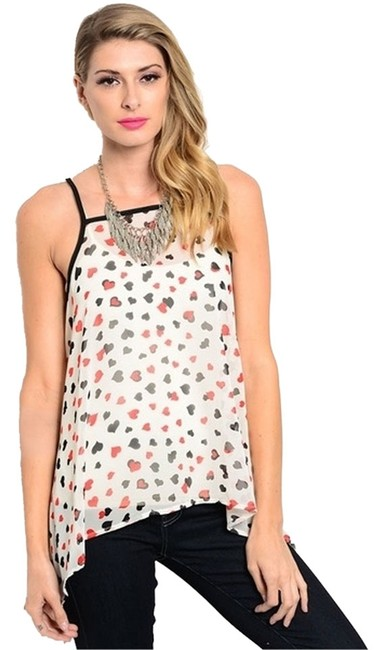 Preload https://item1.tradesy.com/images/white-heart-print-tank-topcami-size-8-m-3286210-0-0.jpg?width=400&height=650