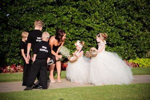 Ivory Tulle Flower Girl Dress