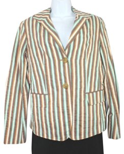 Lafayette 148 New York Stripes Cotton Silk M Top