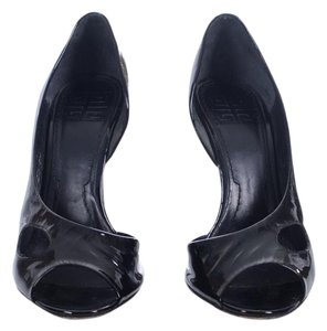 Givenchy Patent Leather Heels Statement Heels Stiletto Cut-out Black Pumps