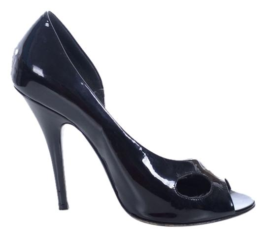 Givenchy Patent Leather Heels Statement Heels Stiletto Cut-out Black Pumps Image 1