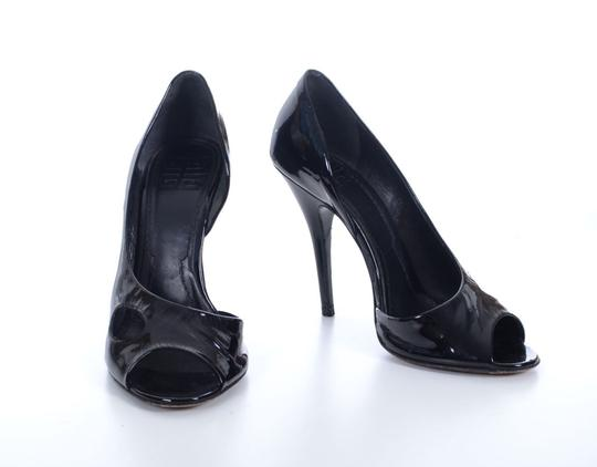 Givenchy Patent Leather Heels Statement Heels Stiletto Cut-out Black Pumps Image 2